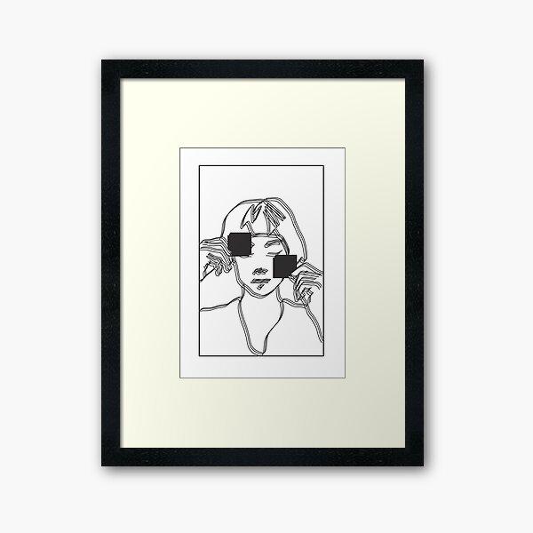 Distorted Line Art Framed Art Print