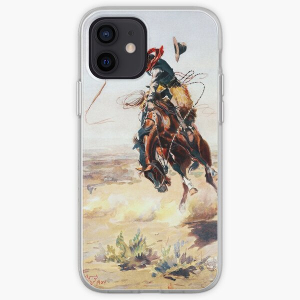 Charles Marion Russell A Bad Hoss iPhone Soft Case