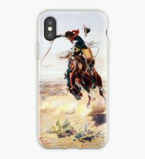 Charles Marion Russell Ein Bad Hoss iPhone-Hülle & Cover