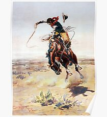 Charles Marion Russell A Bad Hoss Poster