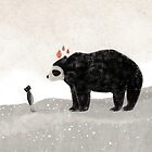 «Aia and spectacled bear» de carosurreal