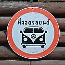 Official Street Sign VW Vans are Not Permitted... in Thailand by Remo Kurka