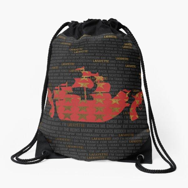 Hamilton - Guns And Ships Drawstring Bag