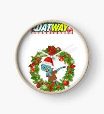 "DatWay Christmas Sweatshirts ""Dabbin' Squidward""  Clock"