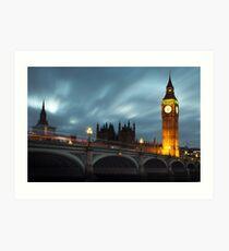 Big Ben and Westminster bridge Art Print