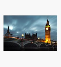 Big Ben and Westminster bridge Photographic Print