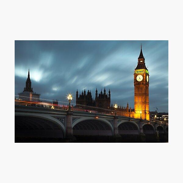 Big Ben and Westminster bridge Photographic Print