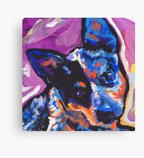 Australian Cattle Dog Bright colorful pop dog art Canvas Print