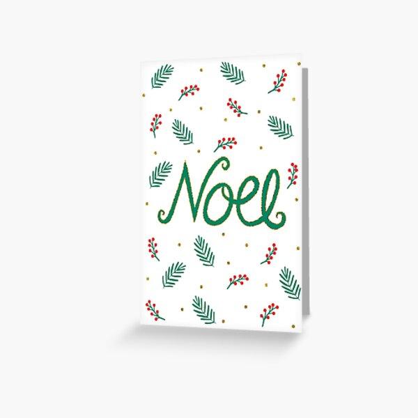 Noel Christmas Card Greeting Card
