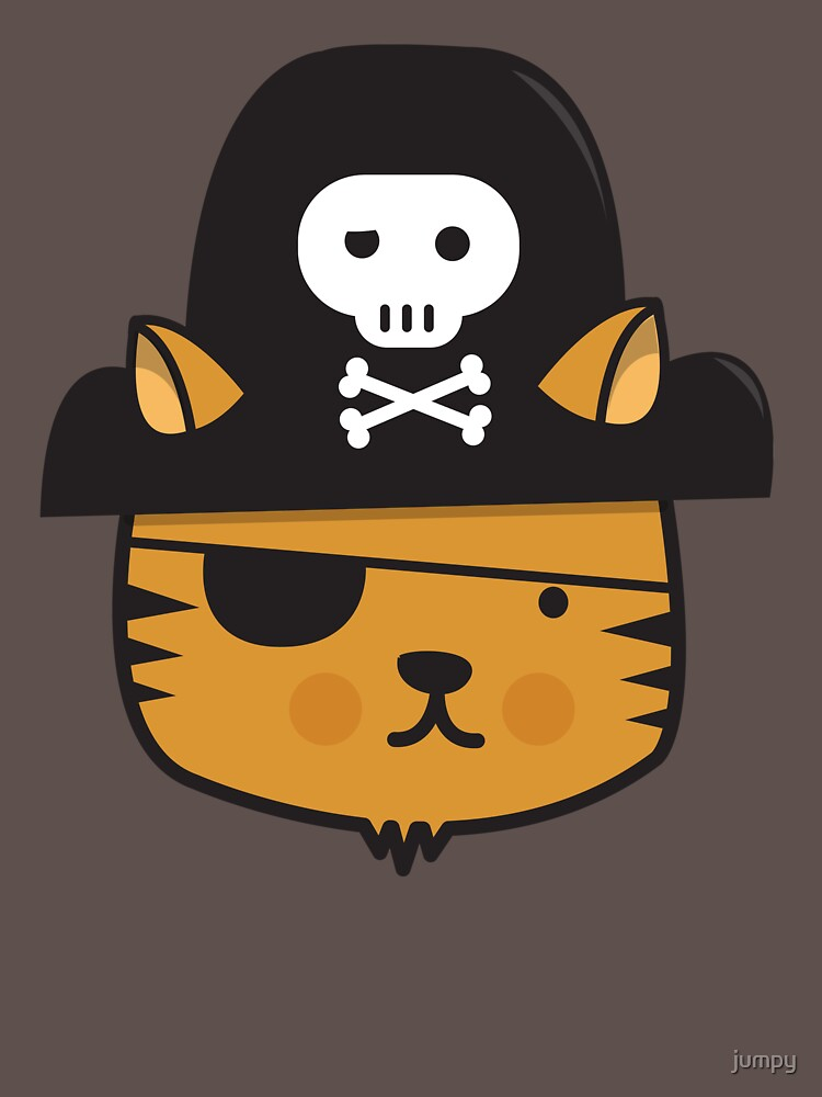 Pirate Cat - Jumpy Icon Series | Classic T-Shirt