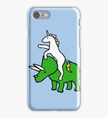 Unicorn Riding Triceratops iPhone Case/Skin