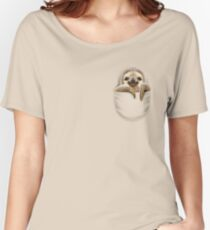 POCKET SLOTH Women's Relaxed Fit T-Shirt