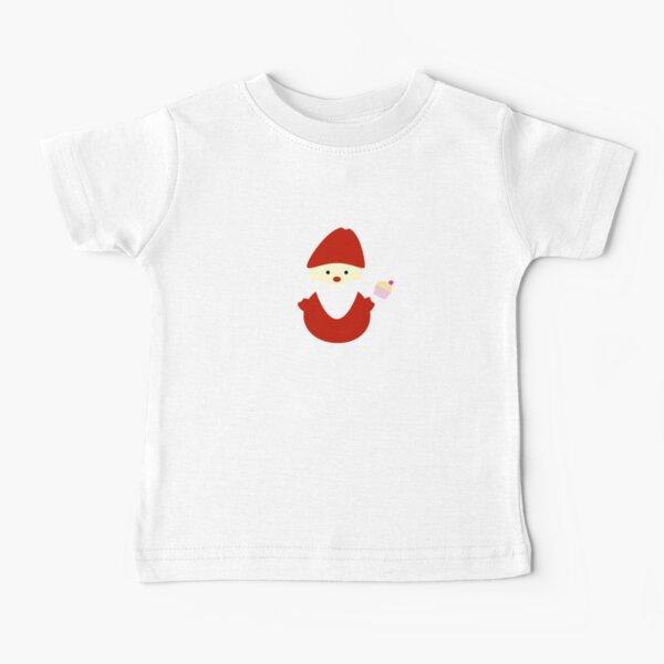 santa with cupcake Baby T-Shirt