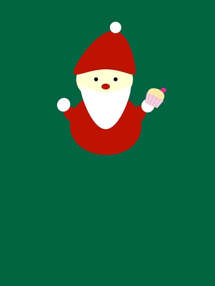 santa claus with cupcake by gosugimoto