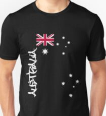 Australia flag, Southern cross and text Unisex T-Shirt