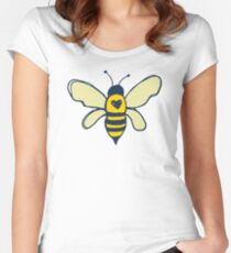 Bees and Flowers Women's Fitted Scoop T-Shirt