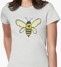 Bees and Flowers Women's Fitted T-Shirt