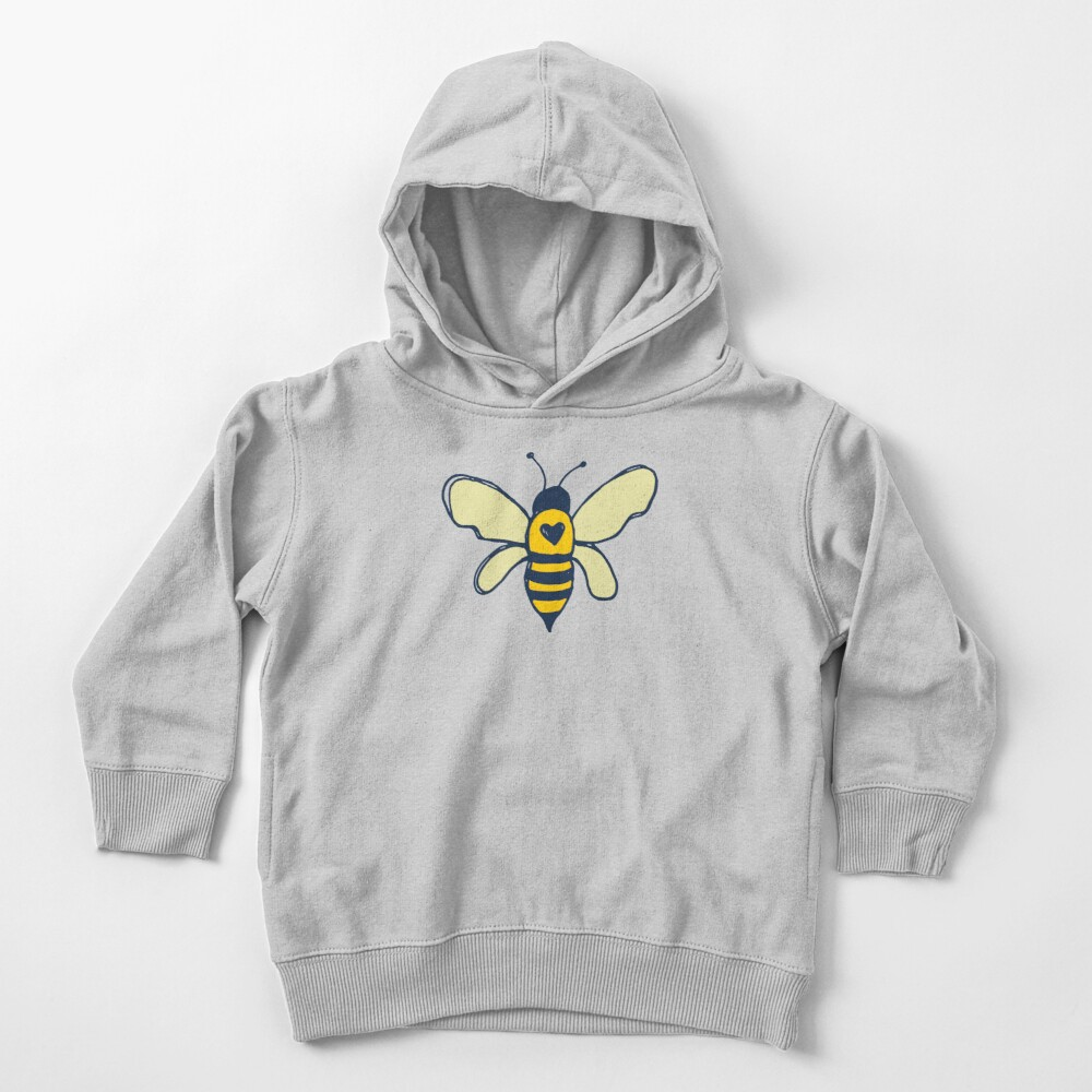 Bees and Flowers Toddler Pullover Hoodie