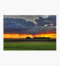 Rain at Sunset Photographic Print