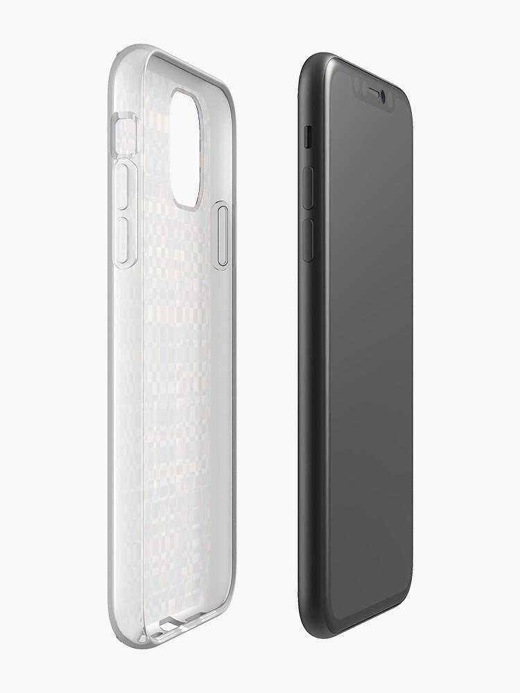 Coque iPhone «Texture transparente en bois - motif», par BrunoBeach