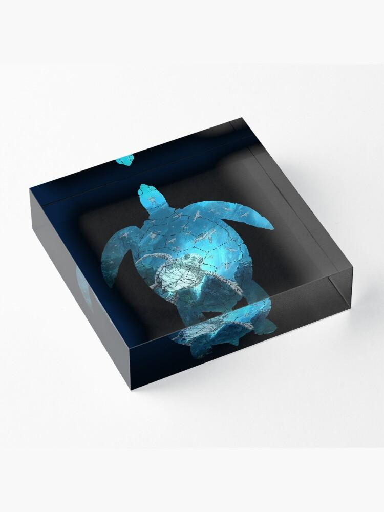 Alternative Ansicht von Meeresschildkröte - unter dem Meer Acrylblock