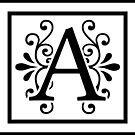 Letter A Monogram by imaginarystory