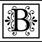 Letter B Monogram by imaginarystory
