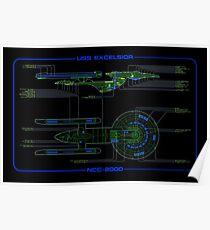 USS Excelsior MSD Poster