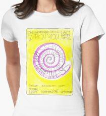 Manifesto »I AM HAPPINESS« Tailliertes T-Shirt für Frauen
