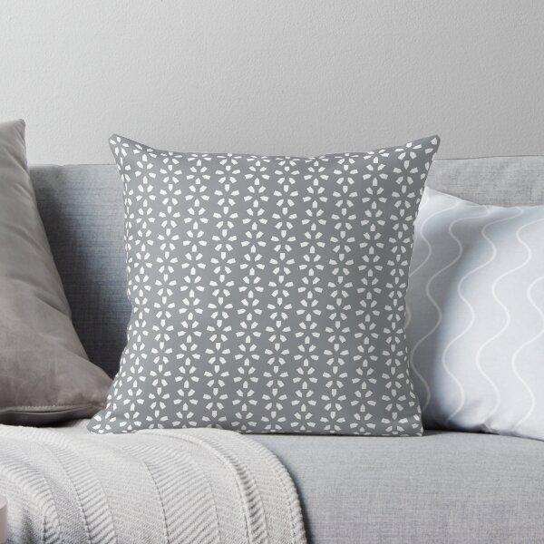 Zima (Gray/White) Throw Pillow