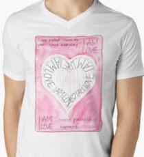 Manifesto »I AM LOVE« T-Shirt mit V-Ausschnitt für Männer