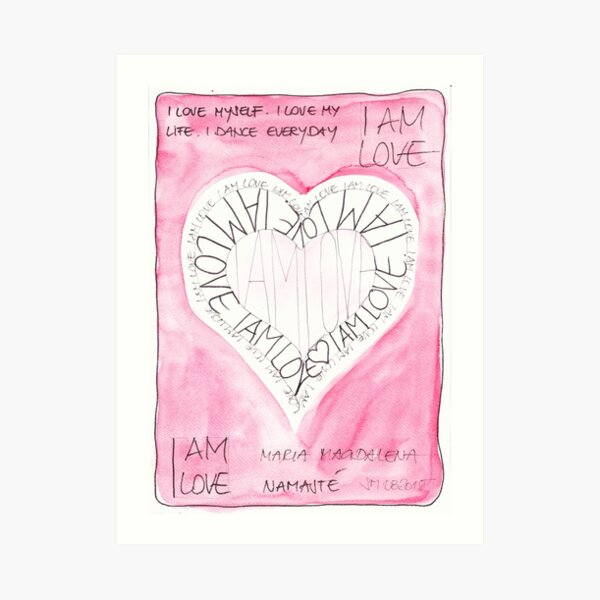 Manifesto »I AM LOVE« Kunstdruck
