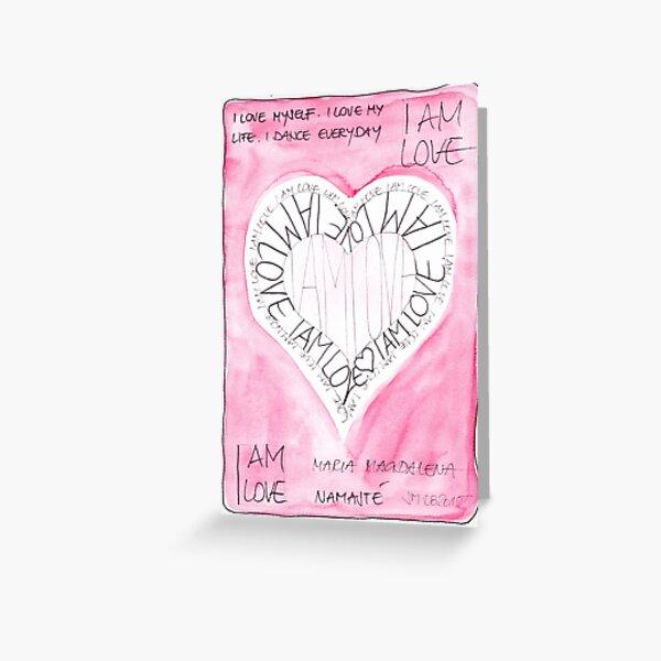 Manifesto »I AM LOVE« Grußkarte