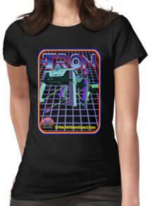Vintage Tron Game Womens Fitted T-Shirt