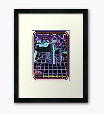 Vintage Tron Game Framed Print