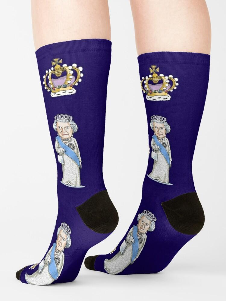 Alternate view of Queen Elizabeth II Socks