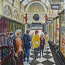 Shopping in Royal Arcade, Melbourne by Virginia  Coghill