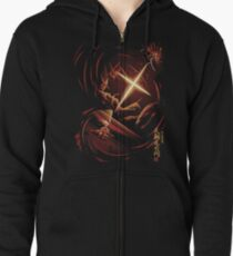 Flash of the Heavenly Dragon Zipped Hoodie