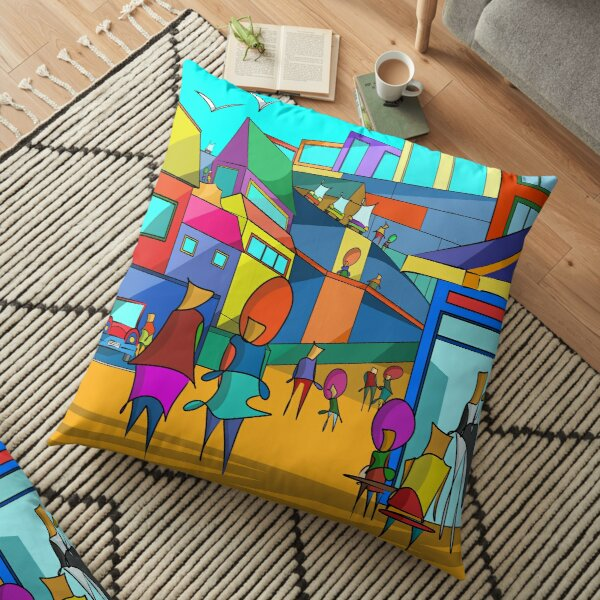 A Stroll In The City – Independent Series Floor Pillow