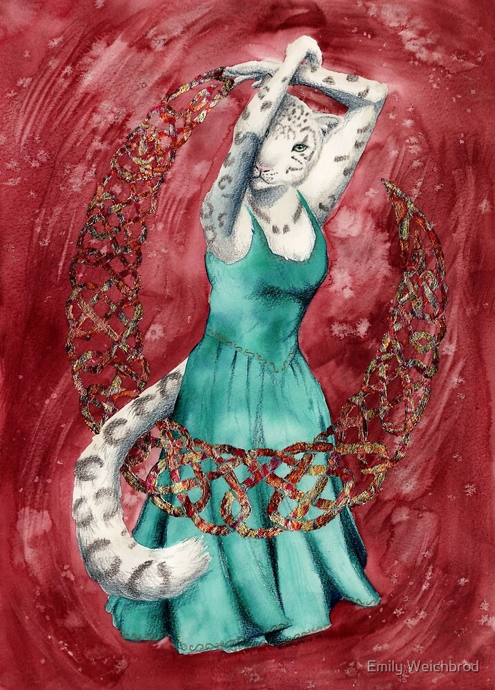 Snow Leopard Dancer by Emily Weichbrod