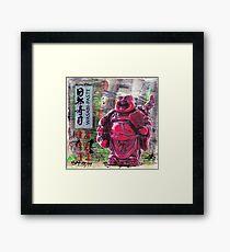 Wasabi Buddha Framed Print