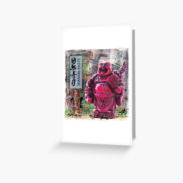 Wasabi Buddha Grußkarte