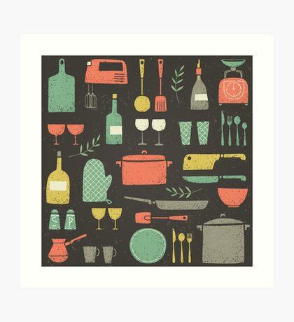 Love Your Kitchen. Retro Edition Art Print