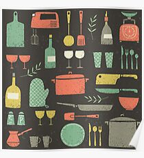 Love Your Kitchen. Retro Edition Poster