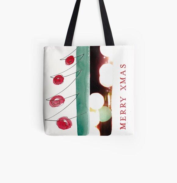 Merry XMAS Allover-Print Tote Bag