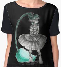 Rainbow Punk: Tirquoise Steam Women's Chiffon Top