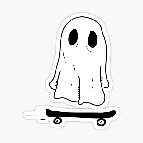sk8r ghost Sticker