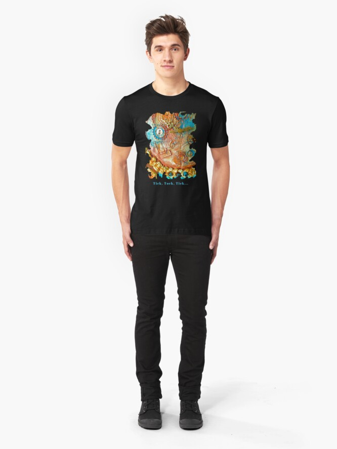Alternate view of COOL STEAMPUNK - TICK TOCK TICK Slim Fit T-Shirt