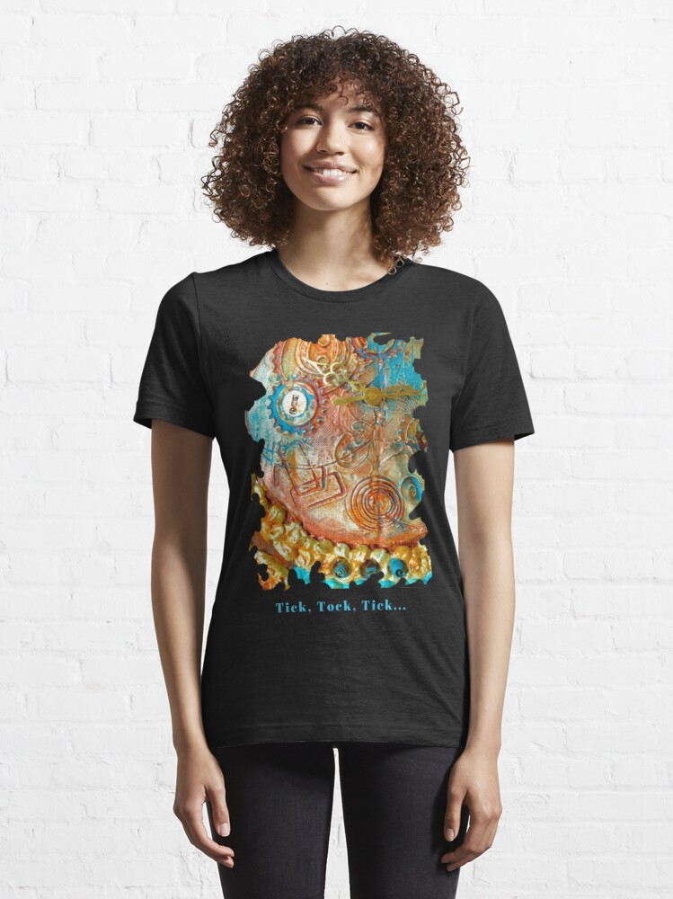 Alternate view of COOL STEAMPUNK - TICK TOCK TICK Essential T-Shirt