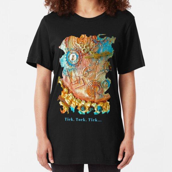 COOL STEAMPUNK - TICK TOCK TICK Slim Fit T-Shirt